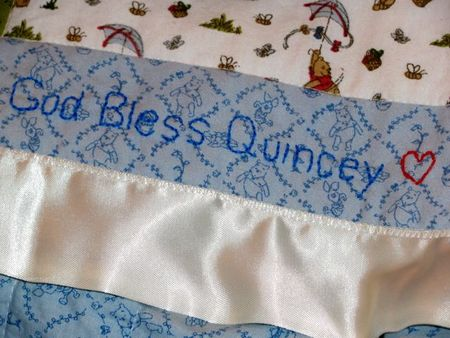 Quincey quilt embroidery