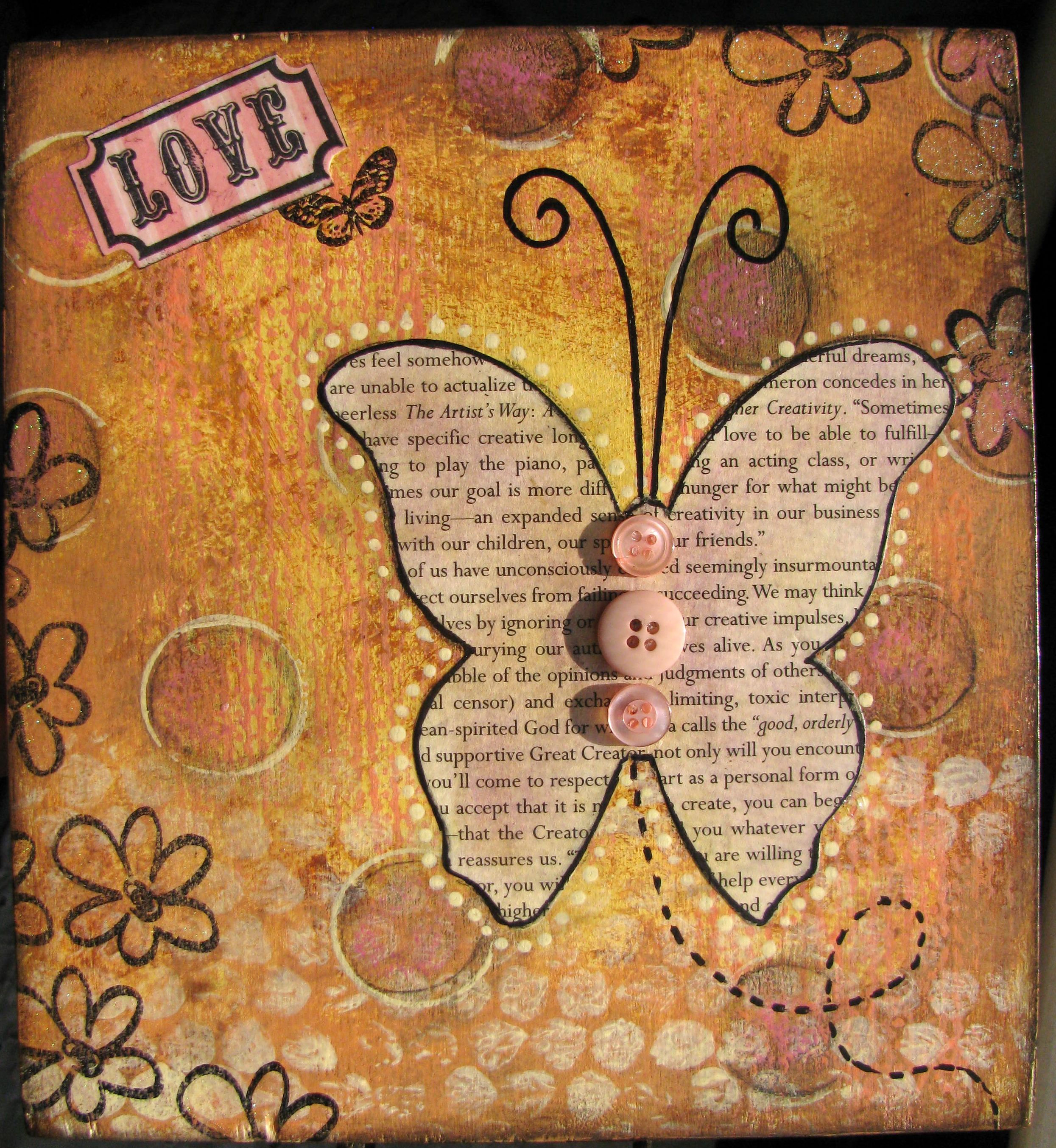 Love Mixed Media Collage