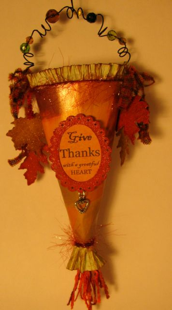 Thankgiving cone