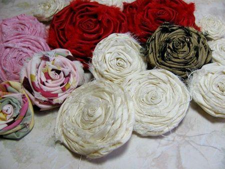 Fabric Roses 1