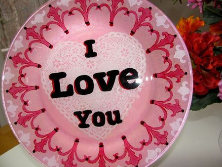 V-day Love Plate