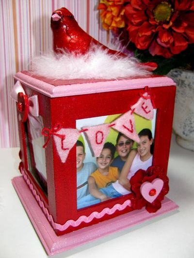 V-day Love Photo Cube