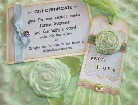 Baby gift tag, etc