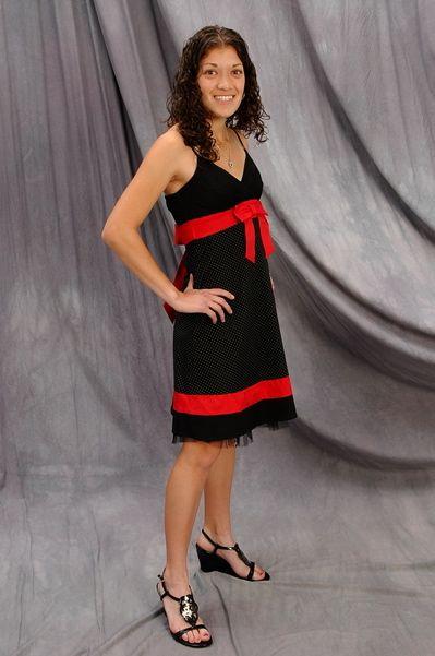 Sarah in dress