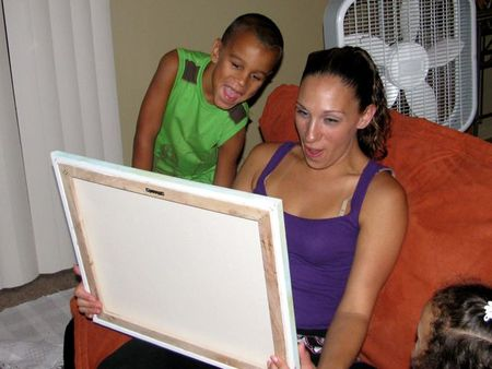 Isaiah's Painting w: Kari