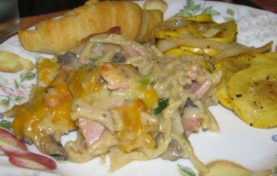 Ham & Pasta Casserole.