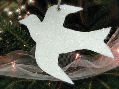 Glittered Dove Ornament