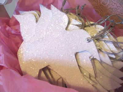 Glittered Dove Ornament...