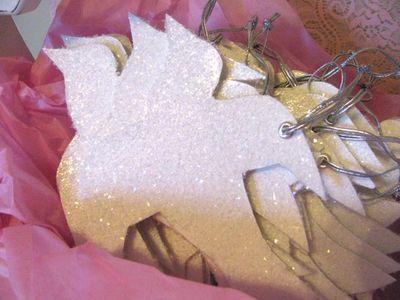 Glittered Dove Ornament...