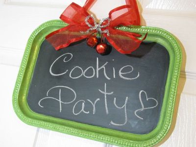 Cookie Party Chalkboard Tray