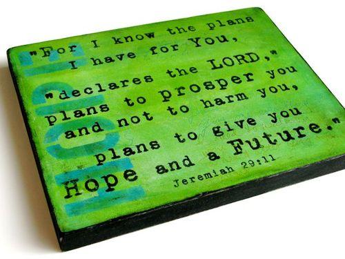 Jeremiah 29 on Wood