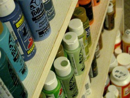 Paint Shelf Close-up