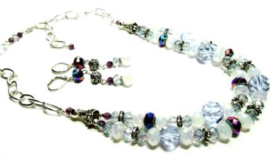 Necklace Set Purple:Blue