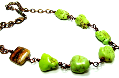 Necklace green:brown