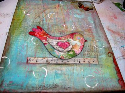 Mixed-Media Free Bird, Tutoral l