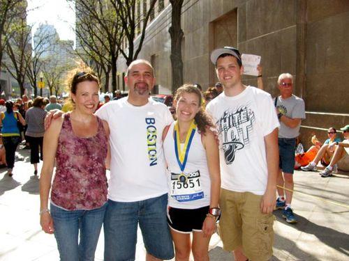 Boston Marathon Family