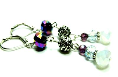 Earrings Blue:Purple