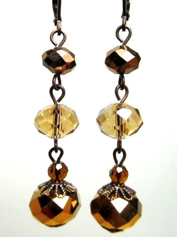 Earrings Brown:Amber