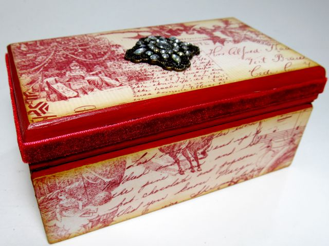 Mod Podge Monday Vintage Style Christmas Box A Creative Life