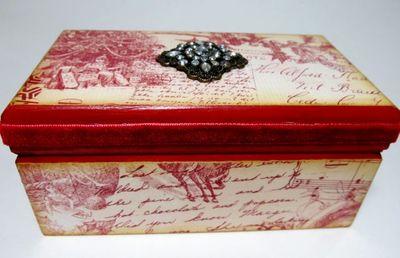 Vintage Style Christmas Box
