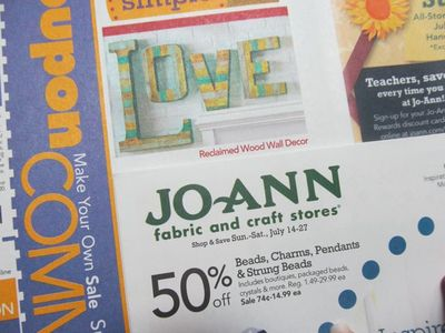 JoAnn Fabrics Reclaimed Wood Wall Letters